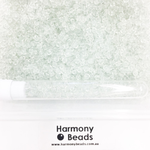 Glass Seed Beads 8/0 Clear Transparent [5 gram tube]