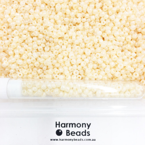 Glass Seed Beads 8/0 Bisque Ceylon Pearlescent [5 gram tube]