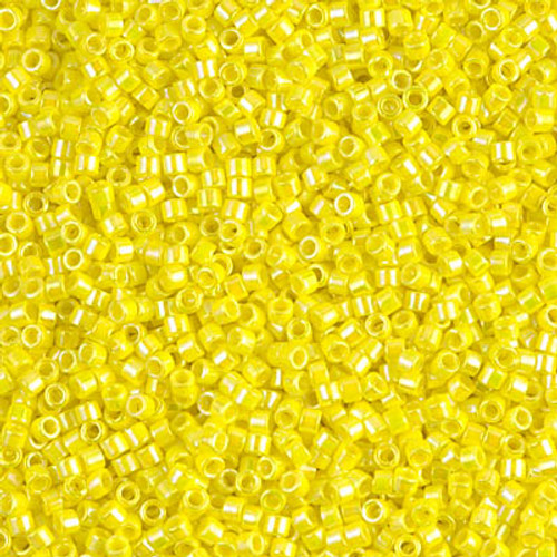 Miyuki Delica Beads 11/0 DB160 Opaque Yellow AB 7.2grams