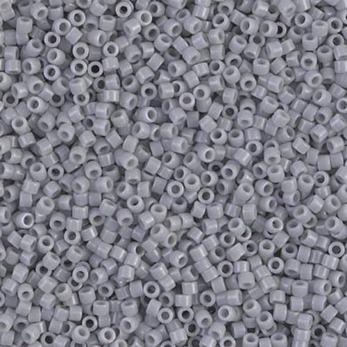 Miyuki Delica Beads 11/0 DB1139 Opaque Ghost Grey 7.2grams