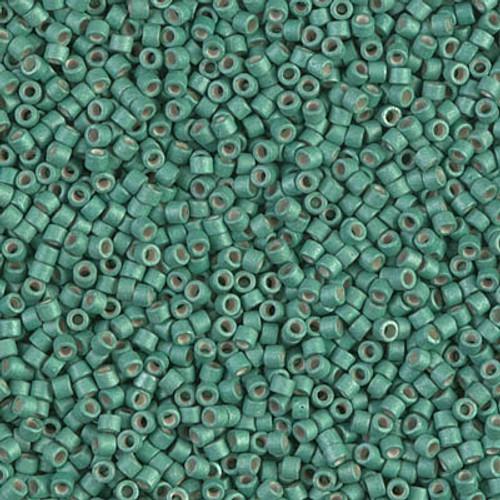 Miyuki Delica Beads 11/0 DB1171 Galvanised Matte Dark Mint 7.2 grams