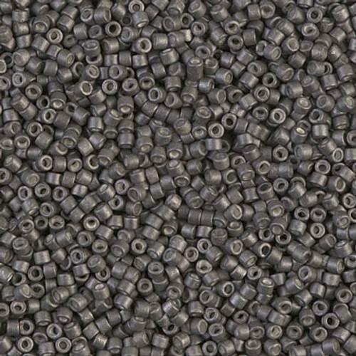 Miyuki Delica Beads 11/0 DB1175 Galvanised Matte Graphite 7.2 grams