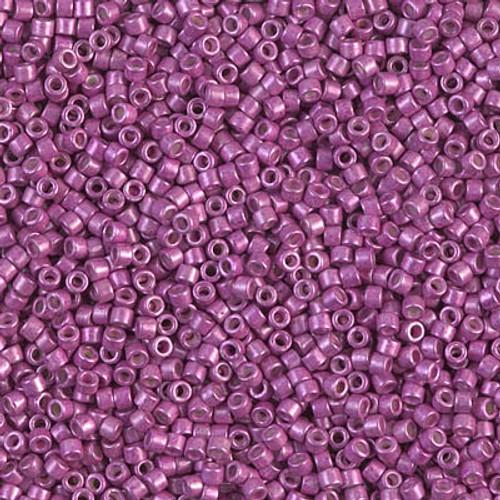 Miyuki Delica Beads 11/0 DB1184 Galvanised SF Magenta 7.2 grams
