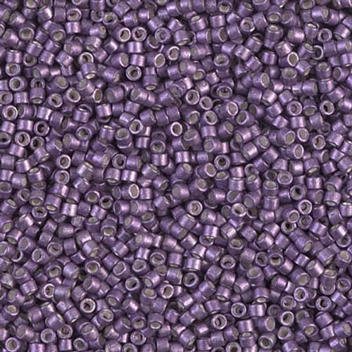 Miyuki Delica Beads 11/0 DB1185 Galvanised SF Eggplant 7.2 grams