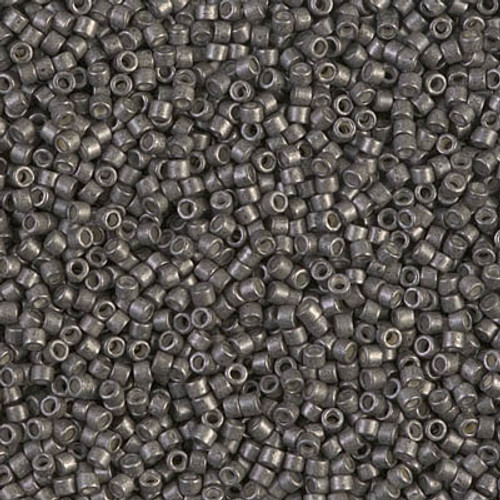 Miyuki Delica Beads 11/0 DB1186 Galvanised SF Graphite 7.2 grams