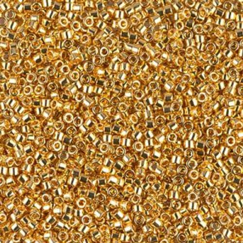 Miyuki Delica Beads 11/0 DB031 Gold 24K Plated 7.2grams