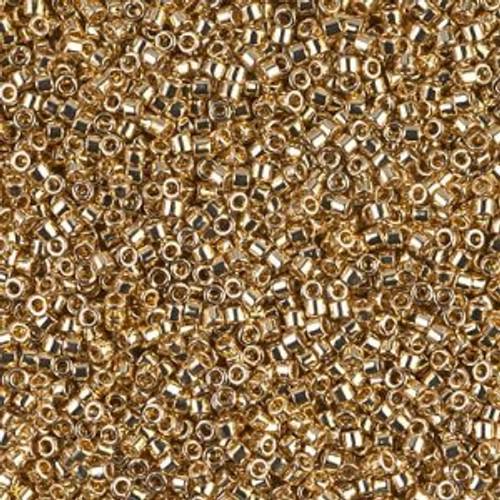 Miyuki Delica Beads 11/0 DB034 Lt 24K Gold Plated 7.2grams
