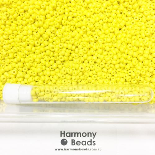 Glass Seed Beads 8/0 YELLOW OPAQUE