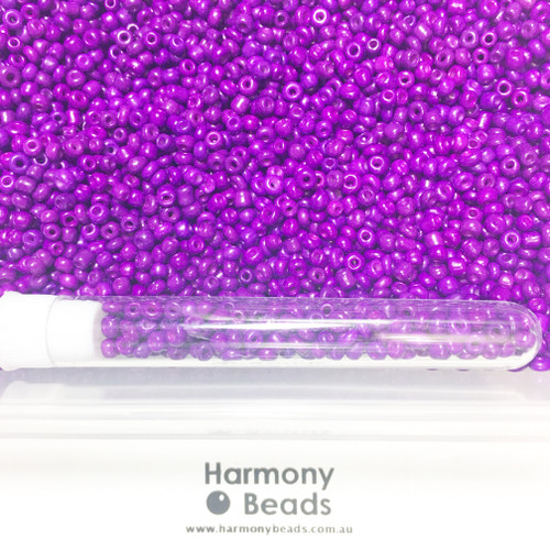 Glass Seed Beads 8/0 DARK VIOLET OPAQUE