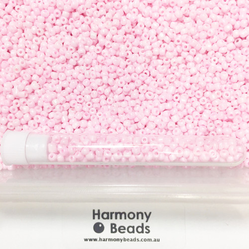 Glass Seed Beads 8/0 PINK OPAQUE