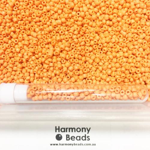 Glass Seed Beads 8/0 ORANGE OPAQUE