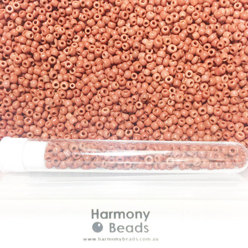 Glass Seed Beads 8/0 BROWN OPAQUE