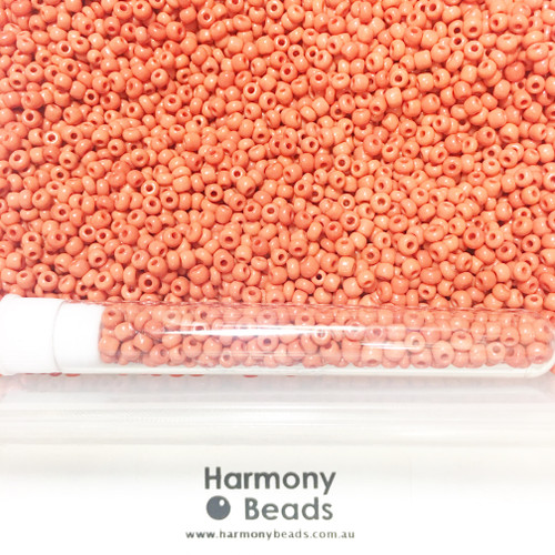 Glass Seed Beads 8/0 CRIMSON RED OPAQUE