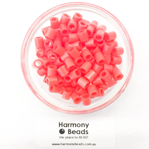FUZE Beads Iron-Fuse Melt Plastic Beads 5mm NEON RED