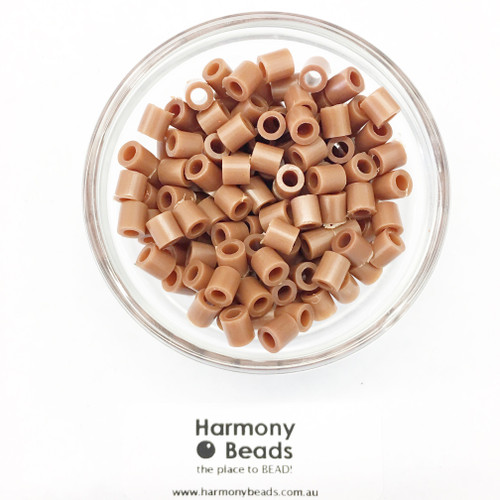 Fuze Beads Iron-Fuse Melt Plastic Beads 5mm COCONUT BROWN