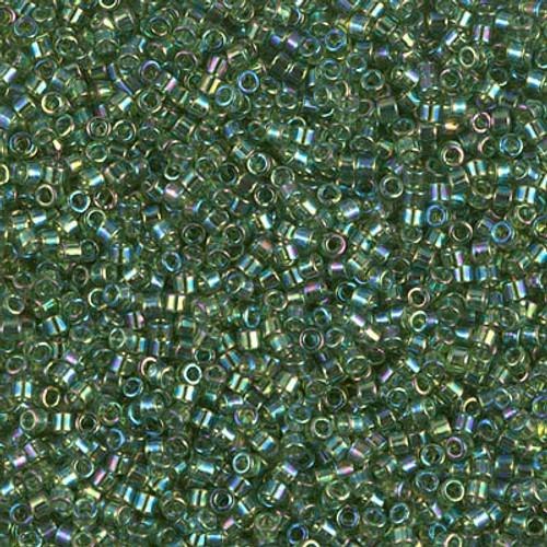 Miyuki Delica Beads 11/0 DB1247 Trans Olive AB 7.2 grams