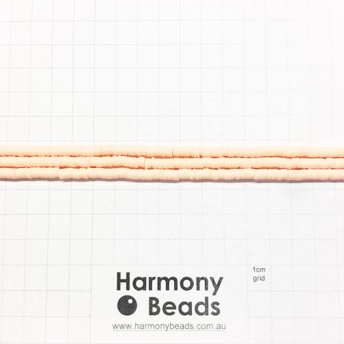 Polymer Clay Heishi Flat Disc Spacer Beads 4mm OPAQUE PEACH ORANGE
