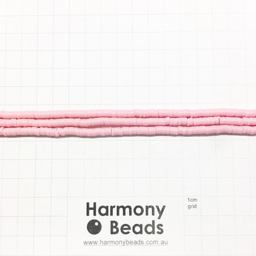 Polymer Clay Heishi Flat Disc Spacer Beads 4mm OPAQUE ROSE MUSK PINK