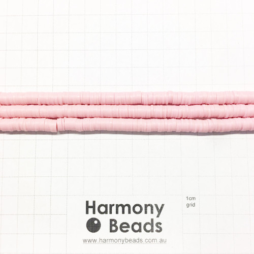 Polymer Clay Heishi Flat Disc Spacer Beads 6mm OPAQUE ROSE MUSK PINK