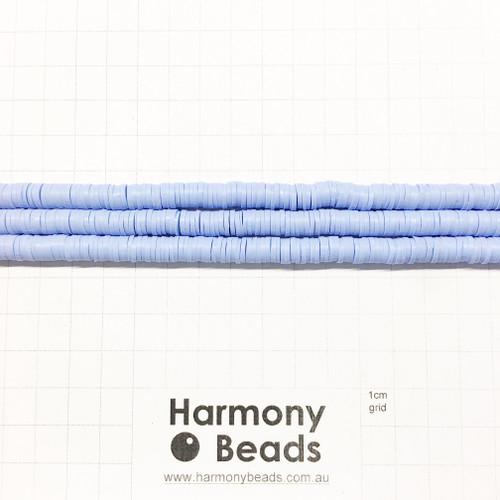 Polymer Clay Heishi Flat Disc Spacer Beads 6mm OPAQUE CORNFLOWER BLUE