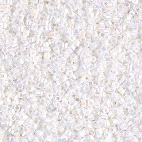Miyuki Delica Beads 11/0 DB202 White Pearl AB 7.2grams