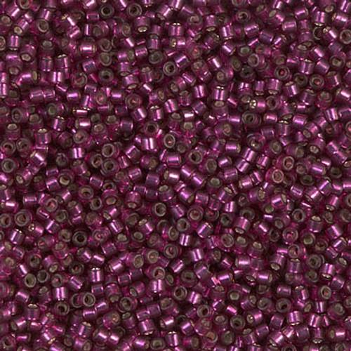Miyuki Delica Beads 11/0 DB1342 Dyed Silver Lined Dark Rose 7.2 grams