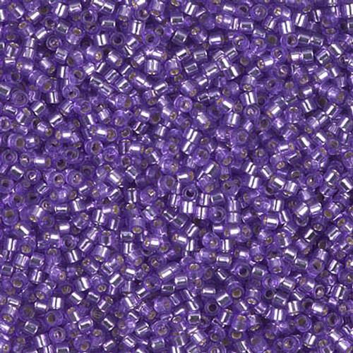 Miyuki Delica Beads 11/0 DB1347 Dyed Silver Lined Lilac 7.2 grams