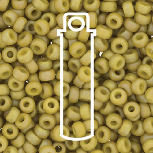 Miyuki Seed Beads Size 6/0 6-94693 Frost Opaque Glaze Rainbow Pistachio 20 grams