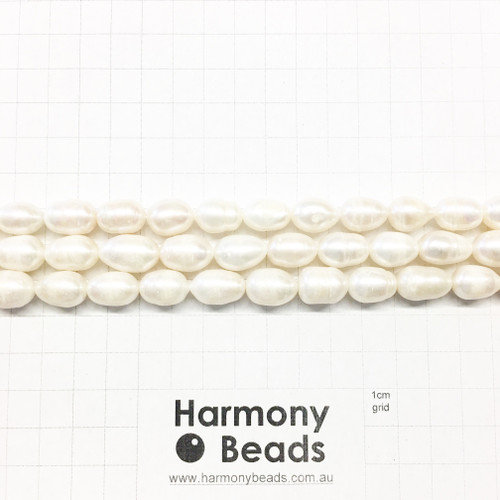 Natural Cultured Freshwater Oval Pearls, ~10x14mm