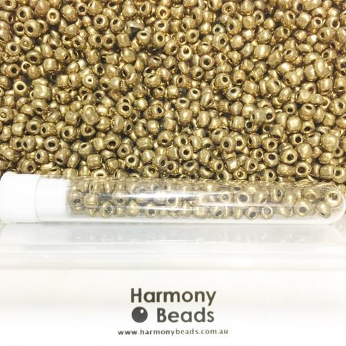 Glass Seed Beads 6/0 Metallic Light Bronze