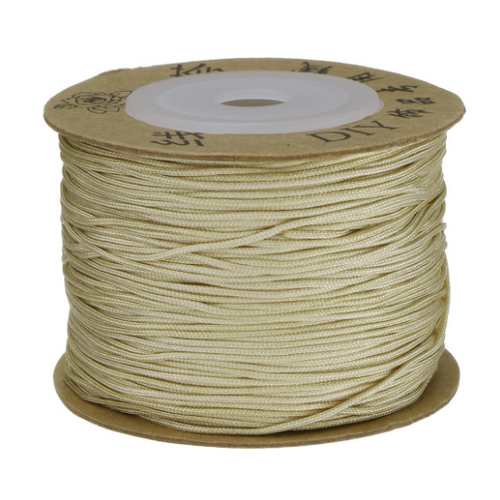 Macrame / Chinese Knotting Cord, Cream, 0.4mm (120 metres Spool)