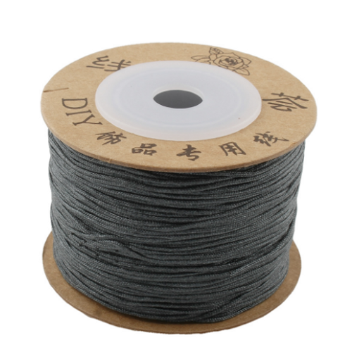 Macrame / Chinese Knotting Cord, Taupe Grey, 0.6mm (120 metres Spool)