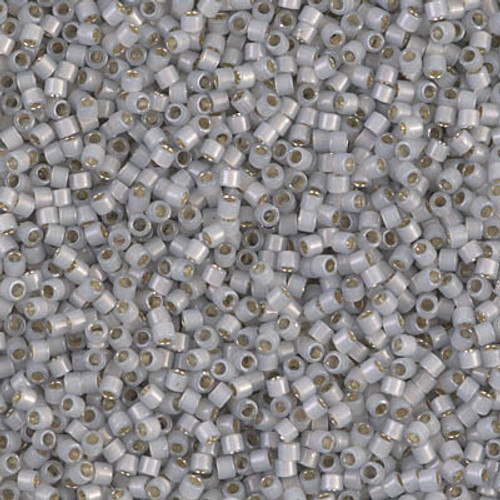 Miyuki Delica Beads 11/0 DB1455 Silver Lined Light Smoke Opal 7.2 grams