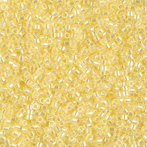 Miyuki Delica Beads 11/0 DB1471 Trans Pale Yellow Luster 7.2 grams