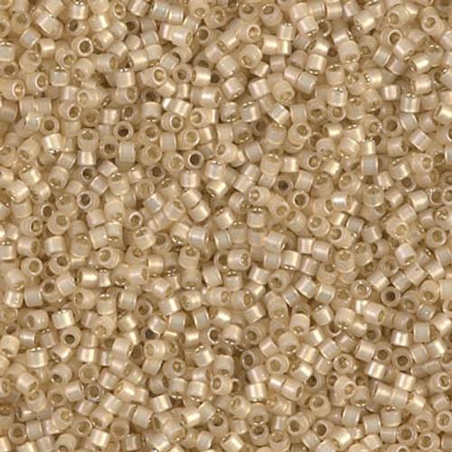 Miyuki Delica Beads 11/0 DB1458 Silver Lined Light Honey Opal 7.2 grams