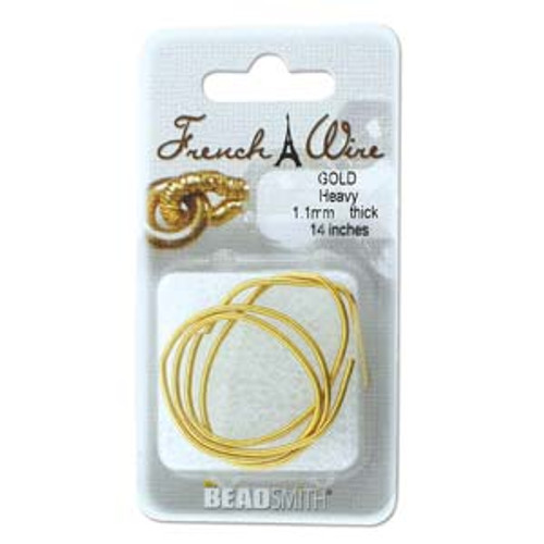 French Wire 0.9mm Gold Colour (Fine)