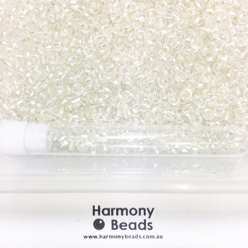 Glass Seed Beads 6/0 Silver Lined Clear [5 gram tube]