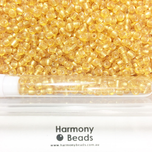 Glass Seed Beads 6/0 GOLD SILVER-LINED [5 gram tube]