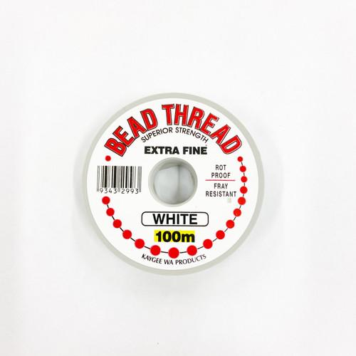 Bead Thread - WHITE, 100m