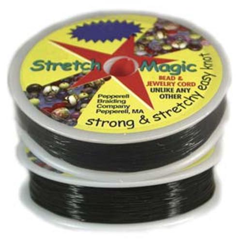 Stretch Magic Elastic Cord - BLACK 0.8mm, 25 metres
