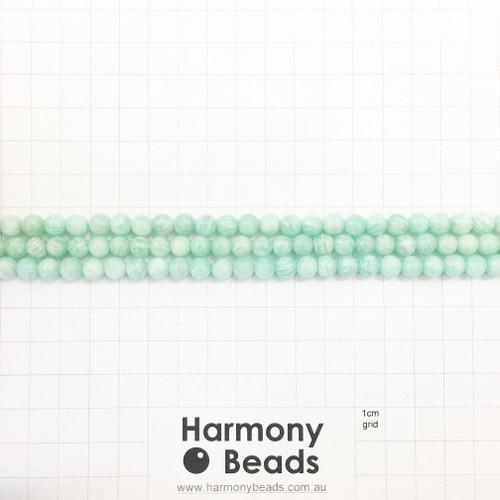 AFRICAN AMAZONITE Round Beads, Natural, 6mm