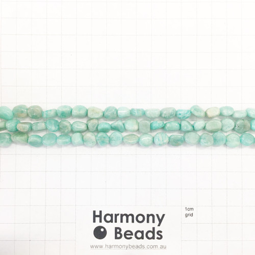 AFRICAN AMAZONITE Nugget Beads, Natural, ~6x9mm