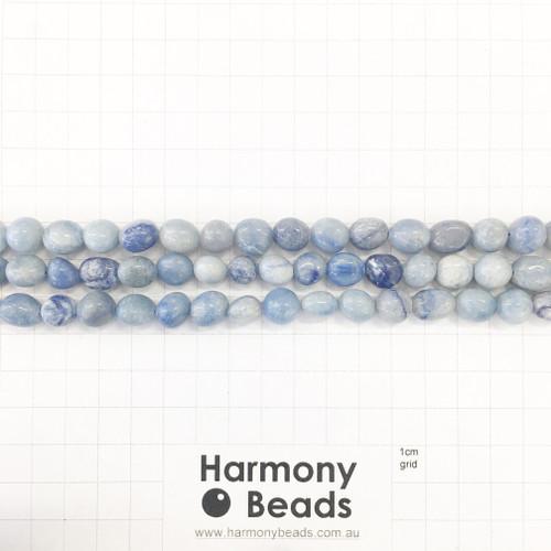 BLUE AVENTURINE Nugget Beads, Natural, Blue, ~7x10mm