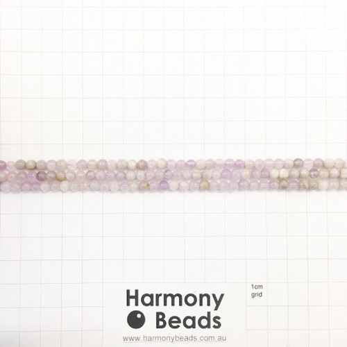 SPS Purple Jade, Smooth Round Beads, Natural, 4mm
