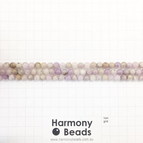 Purple Jade, Smooth Round Beads, Natural, 6mm