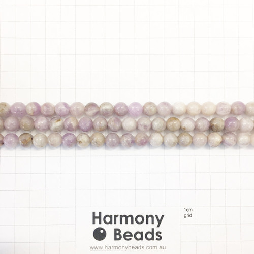 SPS Purple Jade, Smooth Round Beads, Natural, 8mm