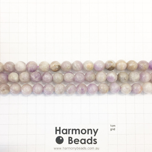 SPS Purple Jade, Smooth Round Beads, Natural, 10mm