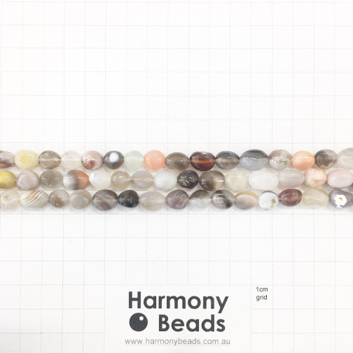 BOTSWANA AGATE Nugget Beads, Natural, ~7x10mm