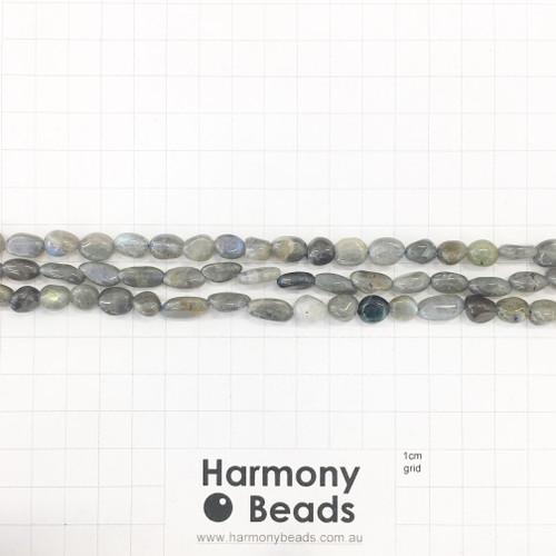 LABRADORITE Nugget Beads, Natural, ~6x9mm