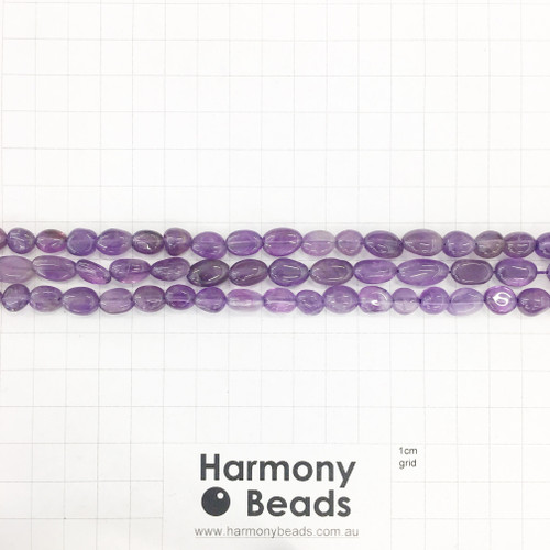AMETHYST Nugget Beads, Natural, ~6x9mm